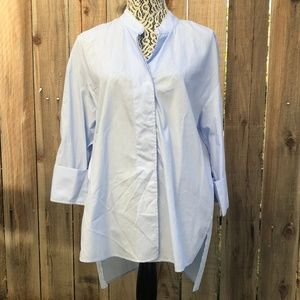 Zara Light Blue Pearl Sleeved Tunic